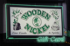 Wooden Nickel Gift Card, Available in any denomination
